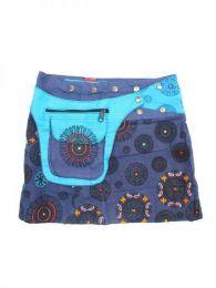 Minifalda 100% algodón Mod Azul ry
