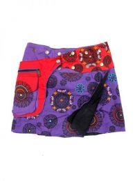 Minifalda 100% algodón Mod Morado