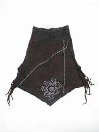 Falda hippie de algodón Mod Negro