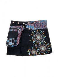 Minifalda 100% algodón Mod Negro