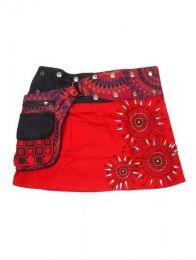 Minifalda 100% algodón Mod Rojo
