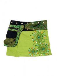 Minifalda 100% algodón Mod Verde