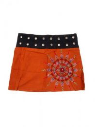 Minifalda 100% algodón Mod Naranja