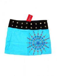 Minifalda 100% algodón Mod Azul