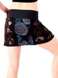 Faldas Hippie Boho Étnicas - Minifalda de talla ajutable FAEV14.