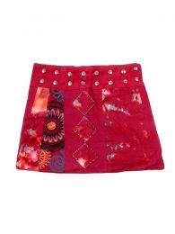Faldas Hippie Boho Étnicas - Minifalda de talla ajutable FAEV14 - Modelo Rojo