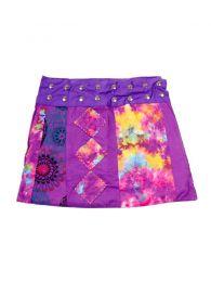 Faldas Hippie Boho Étnicas - Minifalda de talla ajutable FAEV14 - Modelo Morado