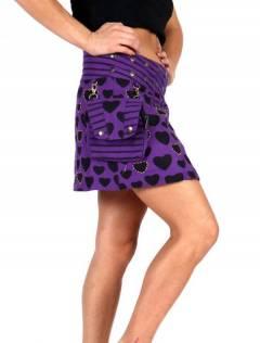 Faldas Hippies y Étnicas - Minifalda 100% algodón FAEV16.