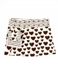 Faldas Hippies y Étnicas - Minifalda 100% algodón FAEV16 - Modelo Blanco