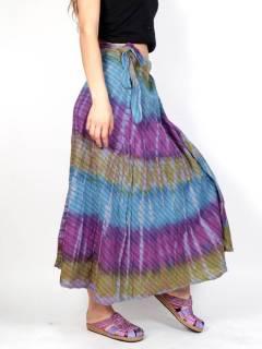 Gonna hippie incrociata multicolore, da acquistare all'ingrosso o dettaglio nella categoria di abbigliamento hippie da donna | Negozio alternativo ZAS. [FAEV18]