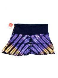 Minifalda de punto de algodón Mod Morado