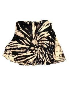 Minigonna hippie Tie Dye con patta asimmetrica FAJU02 da acquistare in blocco o in dettaglio nella categoria Costume etnico hippy alternativo.