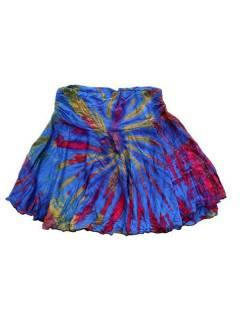 Minifalda hippie Tie Dye con vuelo asimétrica FAJU02 para comprar al por mayor o detalle  en la categoría de Artículos Artesanales.