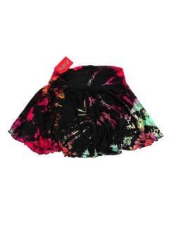 Minifalda hippie Tie Dye con vuelo asimétrica FAJU02 para comprar al por mayor o detalle  en la categoría de Outlet Hippie Étnico Alternativo.
