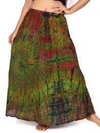 Falda hippie de rayón detalle del producto