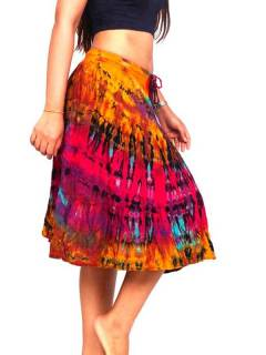 Long tie dye hippie skirt, to buy wholesale or detail in the category of Hippie Women's Clothing | ZAS Alternative Store. [FAJU03]