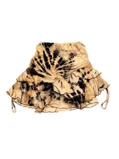 Minifalda hippie Tie Dye con vuelo FAJU06 para comprar al por mayor o detalle  en la categoría de Outlet Hippie Étnico Alternativo.
