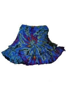 Minifalda hippie Tie Dye con vuelo FAJU06 para comprar al por mayor o detalle  en la categoría de Complementos Hippies Alternativos.