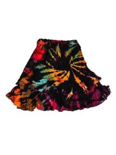 Minifalda hippie Tie Dye con vuelo FAJU06 para comprar al por mayor o detalle  en la categoría de Bisutería Hippie Étnica Alternativa.