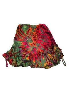 Mini jupe hippie Tie Dye avec vol FAJU06 à acheter en gros ou en détail dans la catégorie Costume Ethnique Hippie Alternative.