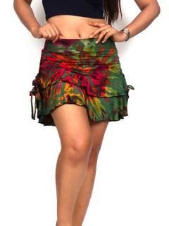Mini-saia hippie Tie Dye com voo FAJU06 para comprar a granel ou em detalhes na categoria Alternative Hippie Ethnic Outlet.