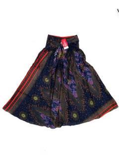 Faldas Hippies y Étnicas - Falda hippie amplia y larga FAPI01 - Modelo Azul