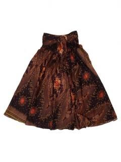 Faldas Hippies y Étnicas - Falda hippie amplia y larga FAPI01 - Modelo Marrón