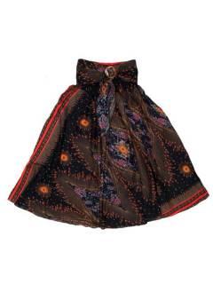 Faldas Hippies y Étnicas - Falda hippie amplia y larga FAPI01 - Modelo Negro