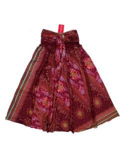 Faldas Hippies y Étnicas - Falda hippie amplia y larga FAPI01 - Modelo Rojo