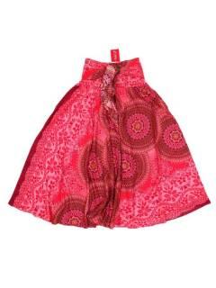 Faldas Hippies y Étnicas - Falda hippie amplia y larga FAPI02 - Modelo Rojo