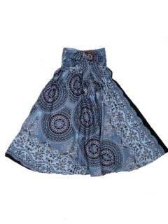 Faldas Hippies y Étnicas - Falda hippie amplia y larga FAPI02 - Modelo Negro