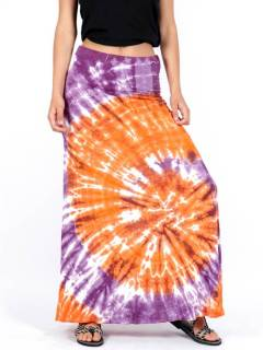 Long Tie Dye Hippie Skirt FAPN03 to buy wholesale or detail in the Women's Hippie Clothing category | ZAS Alternative Store.