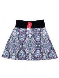 Minifalda hippie 60% expandex Mod Morado