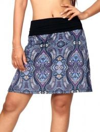 Minifalda hippie 60% expandex detalle del producto