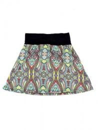 Minifalda hippie 60% expandex Mod Verde