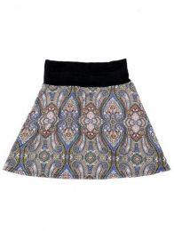 Minifalda hippie 60% expandex Mod Azul
