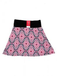 Minifalda hippie 60% expandex Mod Rosa