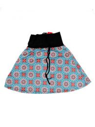 Faldas Hippie Boho Étnicas - Falda Corta que también FASN15 - Modelo Azul