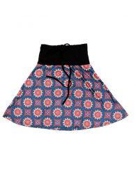 Faldas Hippie Boho Étnicas - Falda Corta que también FASN15 - Modelo Rojo