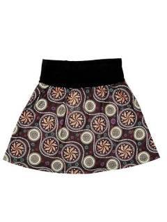 Faldas Hippie Étnicas - Falda Corta que también FASN17 - Modelo Marrón