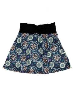 Faldas Hippie Étnicas - Falda Corta que también FASN17 - Modelo Azul