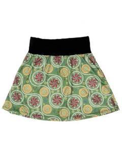 Faldas Hippie Étnicas - Falda Corta que también FASN17 - Modelo Verde