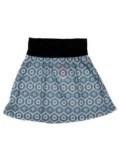 Faldas Hippies y Étnicas - Falda Corta que también FASN18 - Modelo Azul