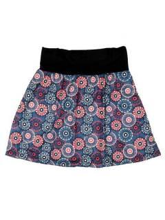 Faldas Hippies y Étnicas - Falda Corta que también FASN19 - Modelo Azul