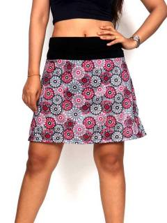 Hippie short skirt with mandala print [FASN19]. Ethnic Hippie Skirts to buy in bulk or detail in the category of Alternative Hippie Clothing for Women.