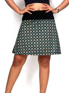 Hippie and Ethnic Skirts - Hippie short skirt with mandala print [FASN20] to buy wholesale or detail in the Hippie Clothing for Women category.