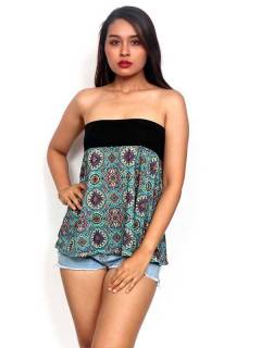 T-Shirts, Blouses and Tops - Hippie short top with mandalas print [FASN21-T] to buy wholesale or detail in the category of Hippie Clothing for Women.