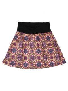 Faldas Hippie Étnicas - Falda Corta que también FASN21 - Modelo Morado