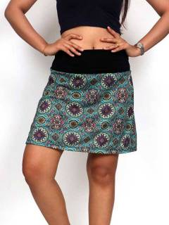 Hippie and Ethnic Skirts - Hippie short skirt with mandala print [FASN21] to buy wholesale or detail in the Hippie Clothing for Women category.