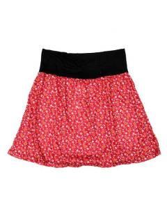 Faldas Hippie Étnicas - Falda Corta que también FASN22 - Modelo Rojo